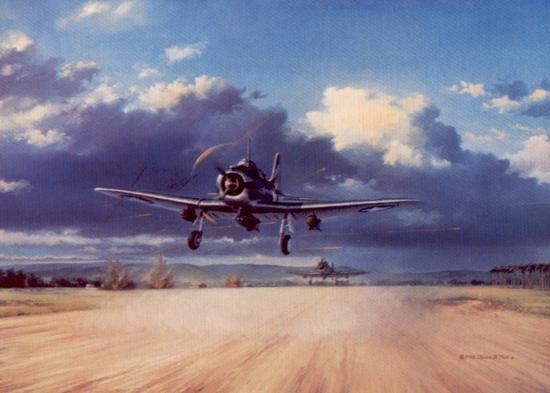 Cactus Scramble Aviation Art Signed David Poole