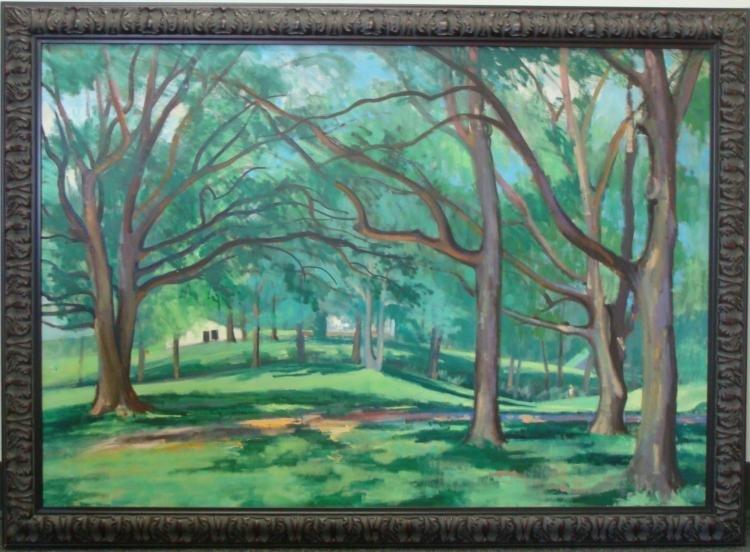 Dorothy Young Graham Original Landscape Painting Framed