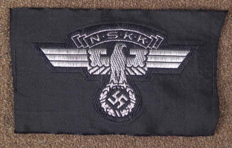 NAZI WWII NSKK/MOTORCYCLE TROOPS UNIFORM INSIGNIA PATCH