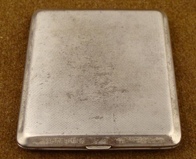 WWII NAZI CIGARETTE CASE-ART DECO FROM CAPTURED OFFICER
