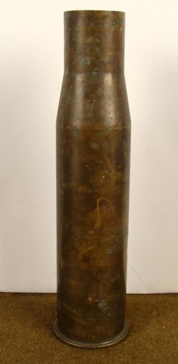 "WWII U.S. MILITARY 37MM-M16 BRASS SHELL ""SER"" 1942"