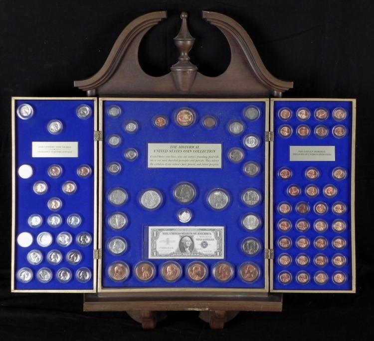 Kennedy Mint Historical U.S. Coin Collection in Case