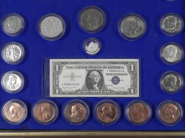 Kennedy Mint Historical U.S. Coin Collection in Case - 3