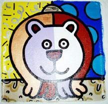 Jozza Original Pop Art Painting On Canvas Bear