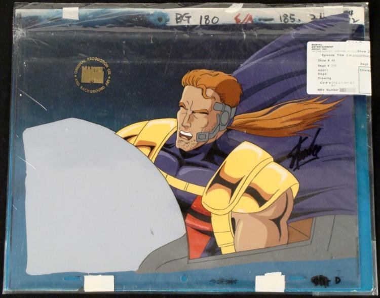 Background Stan Lee X-Men Production Orig Cel Signed