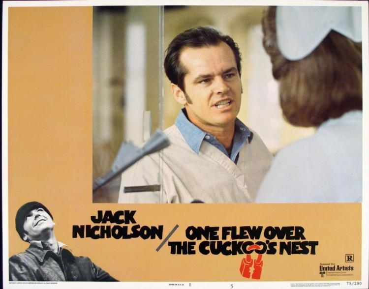 One Flew Over the Cuckoo's Nest Orig Movie Lobby Card