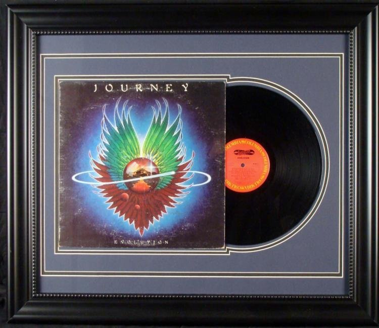 Journey Evolution Record Album in Custom Frame