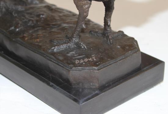 Fine Bronze Sculpture Pheasant Pair - 5