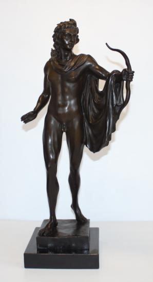 Huge Bronze Sculpture Greek God Apollo