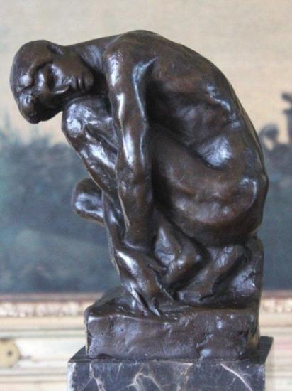 Splendid Male Nude Bronze Sculpture After Rodin
