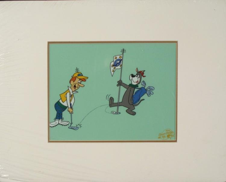George Jetson Golfing Ltd Ed Animation Cel Sericel