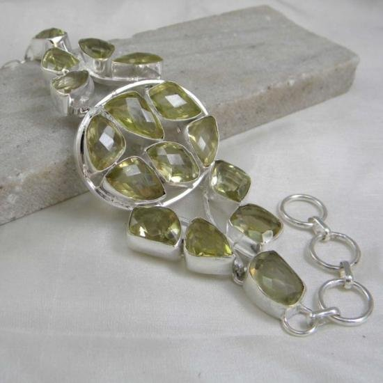 Extremely rare natural Lemon Topaz and Sterling Silver