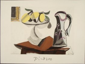 Pablo Picasso : Still Life with Lemon Art Print