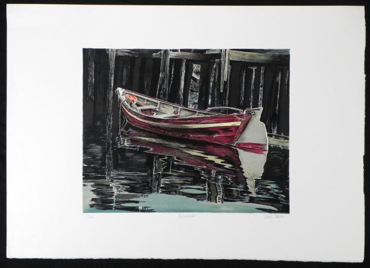 Mark Stevens Reflections Signed Boat Art Print