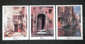 3 Martin Roberts Signed Photographs European Streets