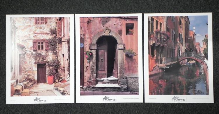 3 Martin Roberts Signed Photographs European Streets