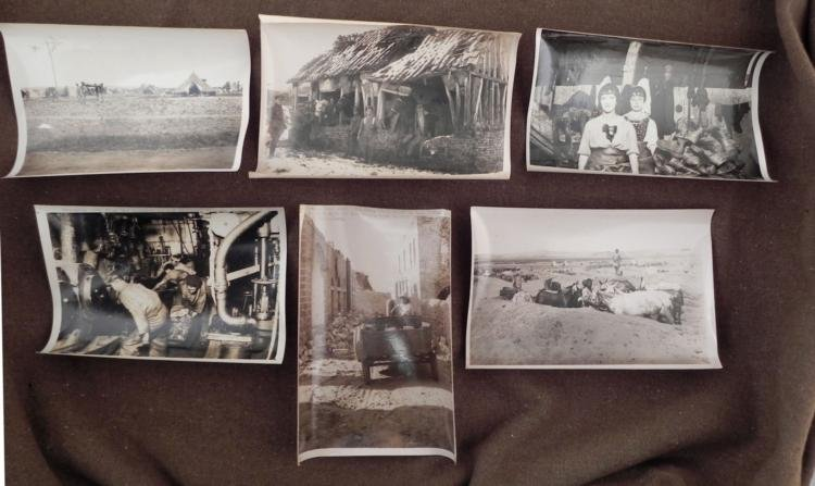 6 WWI BRITISH PRESS RELEASE PHOTOS SOLDIERS COAL OVENS