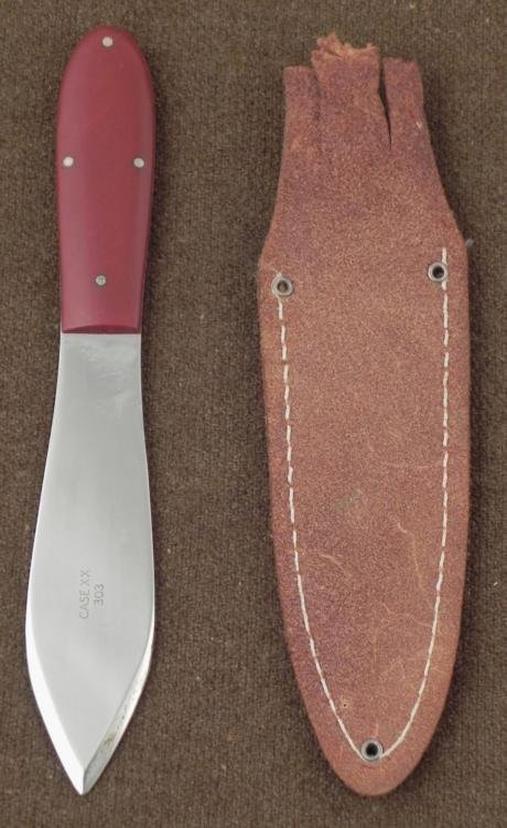 CASE XX 303 SPEAR POINT THROWING KNIFE - 2