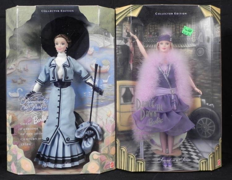 2 Barbies Great Fashions of 20th Century 1910s 20s MIB