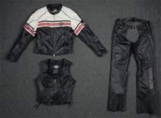 Harley Davidson Womens Leather Jacket, Vest, Chaps MED