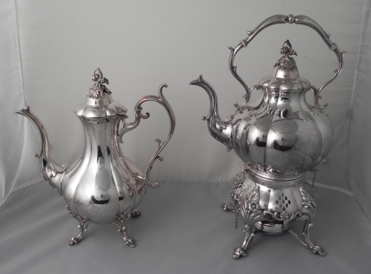 Reed & Barton Winthrop 1795 Silver Plated Tea & Coffee