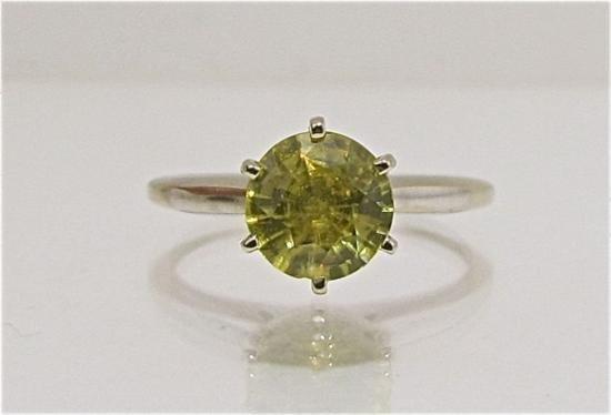 ET0503120180 14KYG Yellow Sphene Ring 2.10dwt