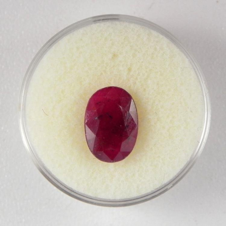 4.5 CT Ruby Natural Gemstone Oval Type II w/ Cert