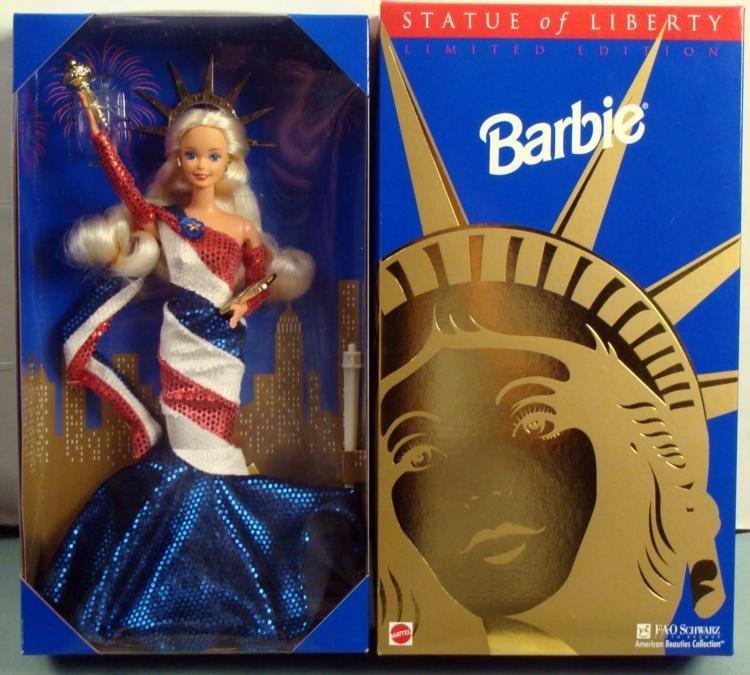 Statue of Liberty Barbie Doll FAO Schwartz Mint in Box