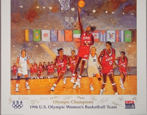 1996 Olympics Bart Forbes Women's Basketball Poster