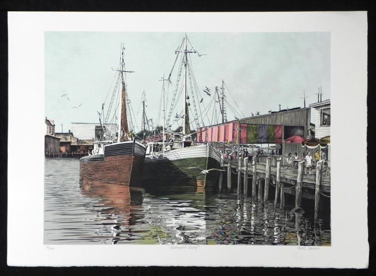 Mark Stevens Fisherman's Wharf S/N Lithograph Print