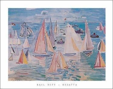 Raoul Dufy Regatta Sailing Sailboat Art Print