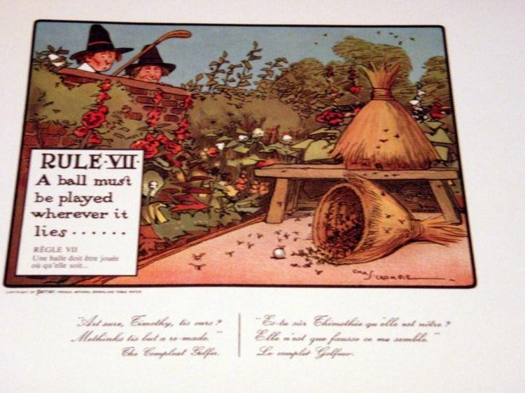 Perrier Golf Rule VII Lithograph Print