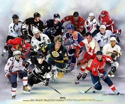 Wishum Gregory NHL Hockey Art Print