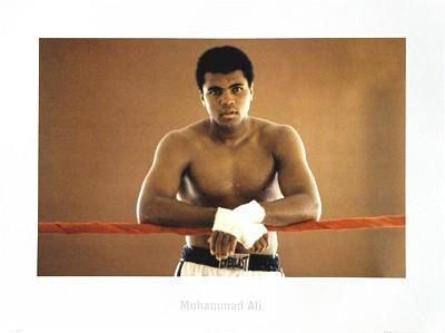 Young Muhammad Ali: Ropes Boxing Portrait Photo Print
