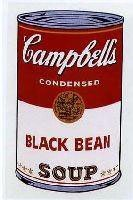 Warhol Print Sunday B Campbell's Soup Can Black Bean