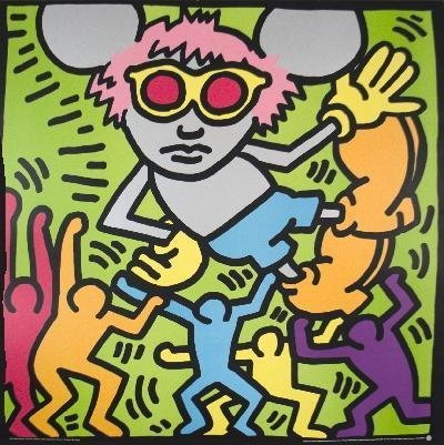 Keith Haring Andy Mouse 1986
