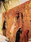 Splendid Salvador Dali Signed Ltd Ed Wailing Wall Wcoa
