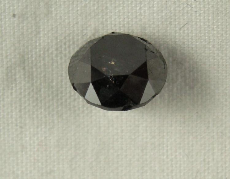 2.40 Carat Black Loose Diamond Opaque-A! Clarity