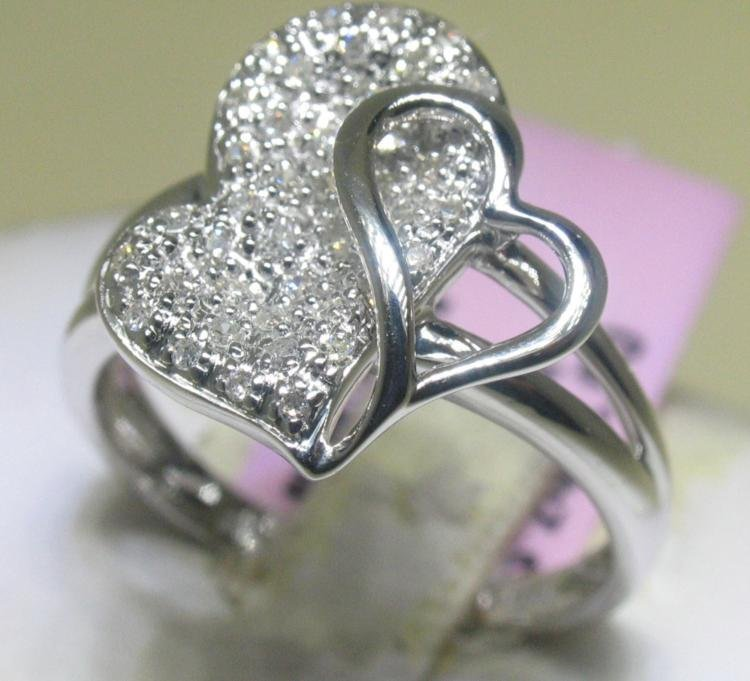 .22 Carat All Diamonds Heart Design Ring