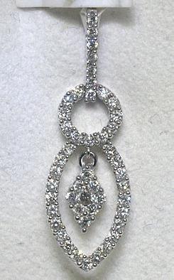 .25 Carat All Diamonds 14K White Gold Pendant