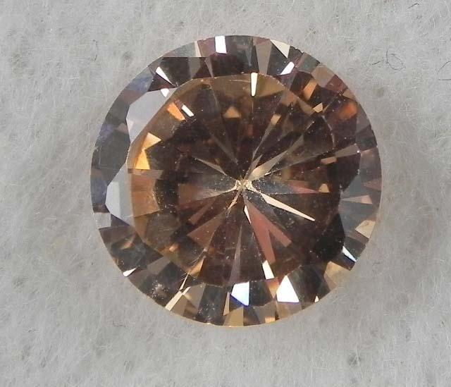 6.0ct Natural Gemstone Round Shaped Champagne