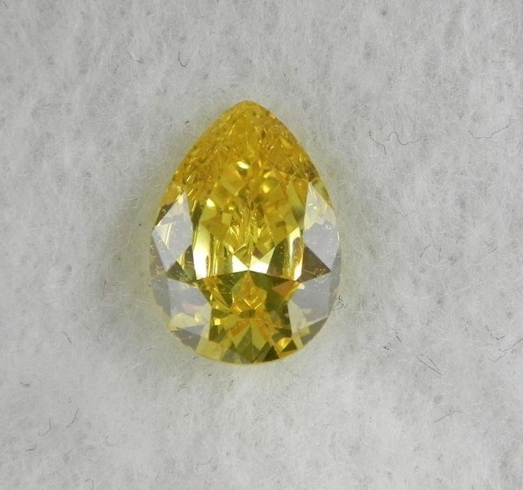 9.5 ct Natural Gemstone, Pear Shaped Yellow
