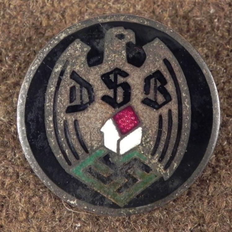 RARE NAZI DSB/GERMAN HOMEOWNER'S ASSOC. BADGE ORIGINAL