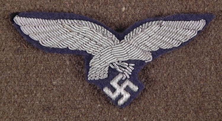 ORIGINAL NAZI LUFTWAFFE OFFICER'S TUNIC BREAST EAGL
