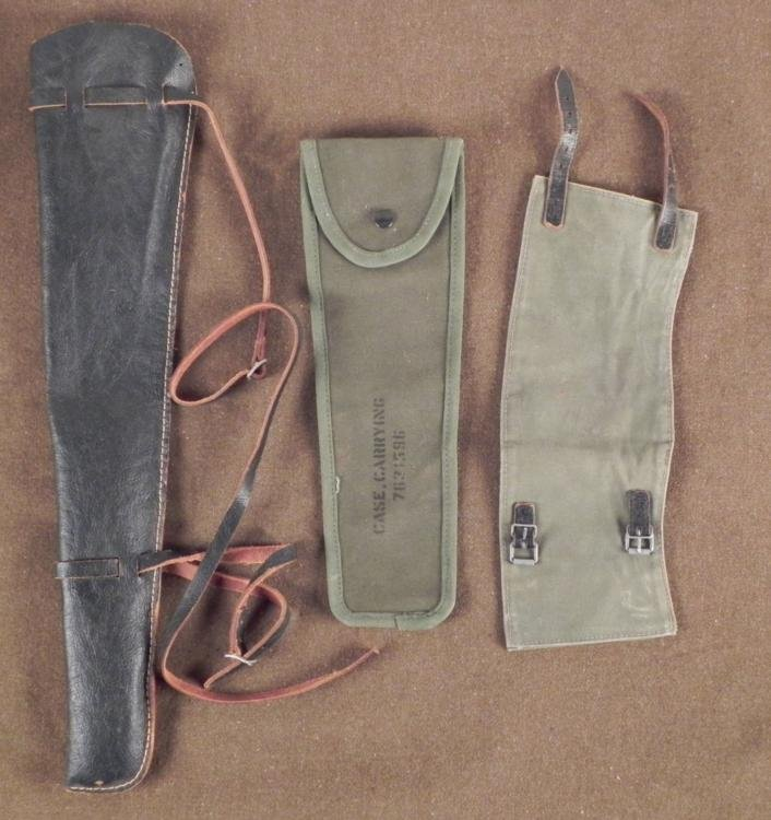 U.S. WWII O.D. CANVAS CARRY CASE BELT M49 RIFLE HOLSTER