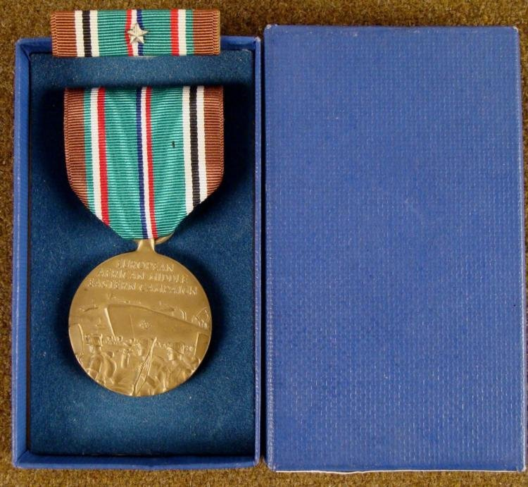 WWII EUROPEAN & MIDDLE EASTERN CAMPAIGN MEDALW/RIBBON