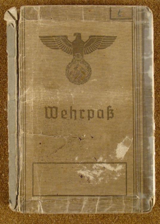 ULTRA-RARE WEHRPASS IDENTIFICATION BOOK ORIGINAL