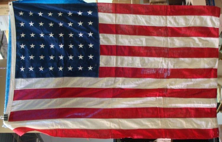 WWII VINTAGE 48 STAR AMERICAN FLAG-LARGE SIZE ORIGINAL
