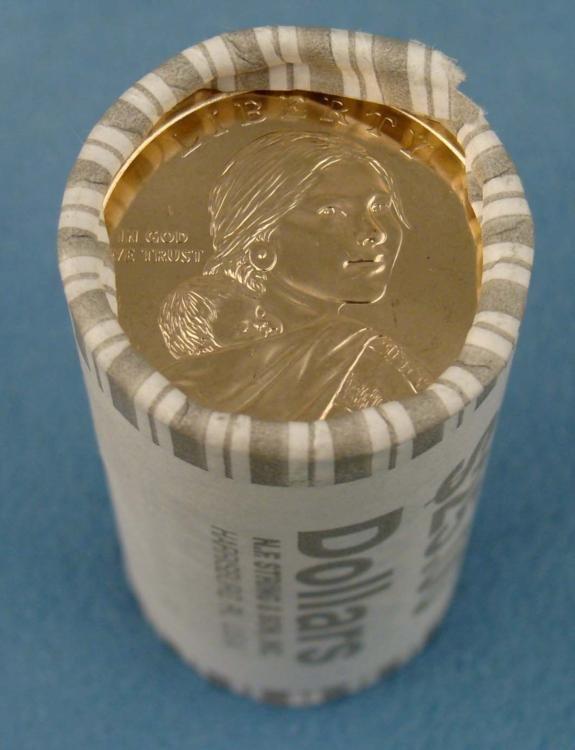 2009-P Gem UNC Sacagawea Roll (25) of US Dollar Coins