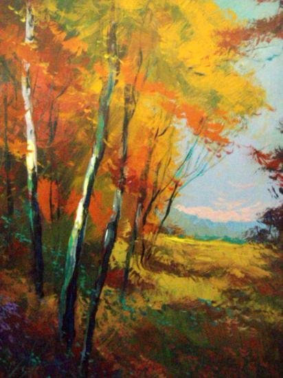 Evening Sunset By Schofield Oil 16x20